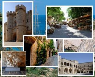 Старый город Родос фотоколлаж